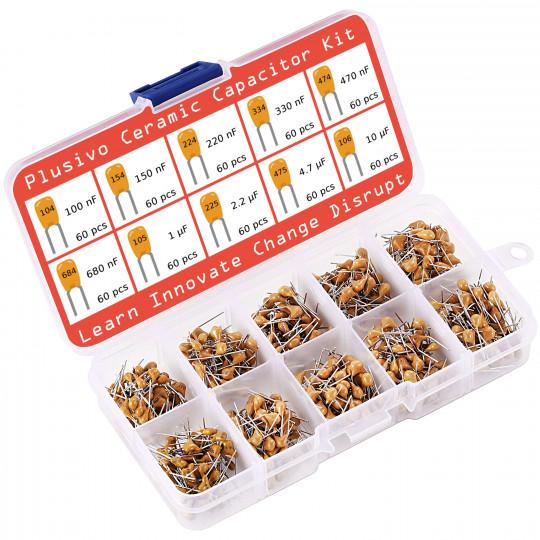 Plusivo Ceramic Capacitor Assortment Kit