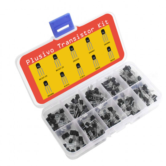 Plusivo BJT Transistors Assortment Kit