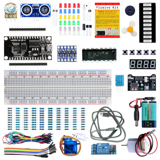 Wireless Super Starter Kit with ESP8266 (programmable with Arduino IDE)