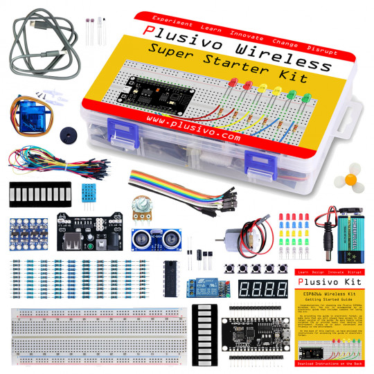 Plusivo Wireless Super Starter Kit with ESP8266 (programmable with Arduino IDE)