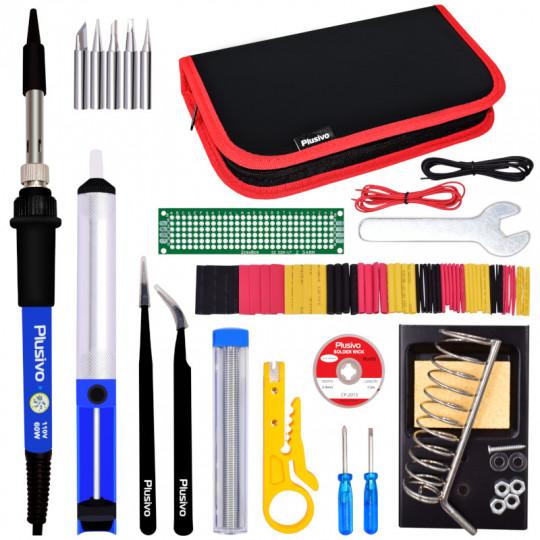 Plusivo Soldering Kit for Electronics (Plug type: US)