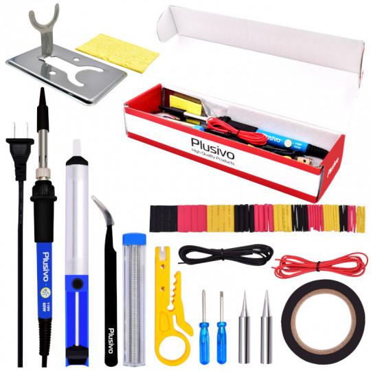Basic Soldering Kit for Electronics (Plug type: US)